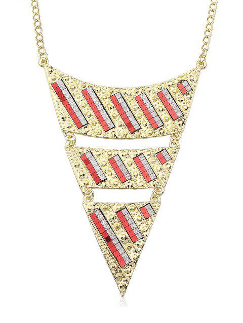 Triangle Chain Necklace - RED