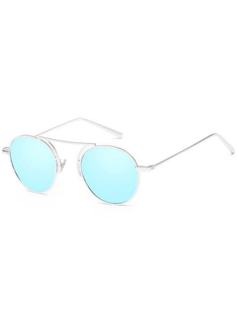 Stylish Thin Metal Frame Oval Sunglasses - DAY SKY BLUE