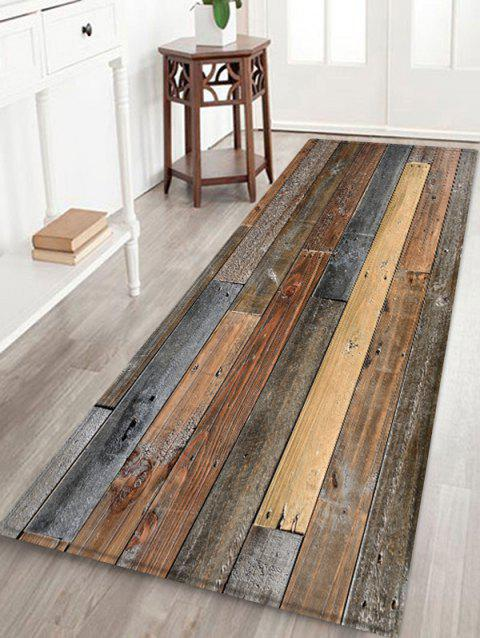 Wood Board Print Water Resistant Floor Mat - multicolor W24 INCH * L71 INCH