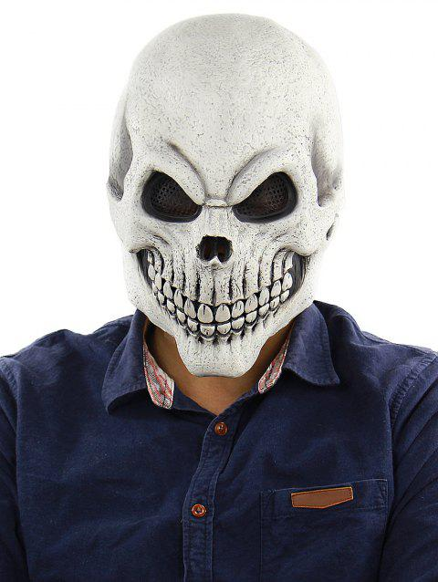 669a5475a3a Halloween Horrible Skull Full Face Rubber Party Mask - multicolor