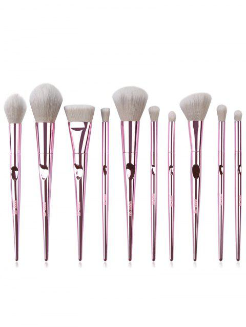 Cosmetic 10pcs Ultra Soft Eyeshadow Blush Powder Contour Brush Set - LIGHT PINK