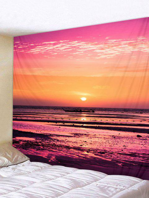 Waterside Sunset Print Tapestry Wall Art - multicolor W59 INCH * L51 INCH