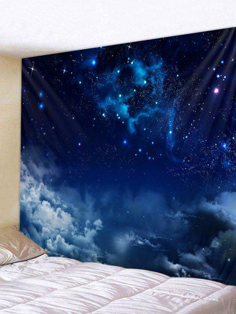 Starry Clouds Print Tapestry Wall Art - LAPIS BLUE W59 INCH * L59 INCH