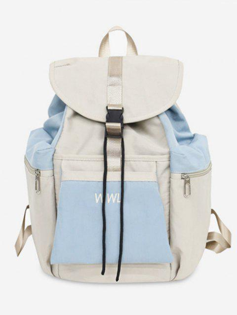 Contrasting Color Leisure Outdoor Backpack - BEIGE