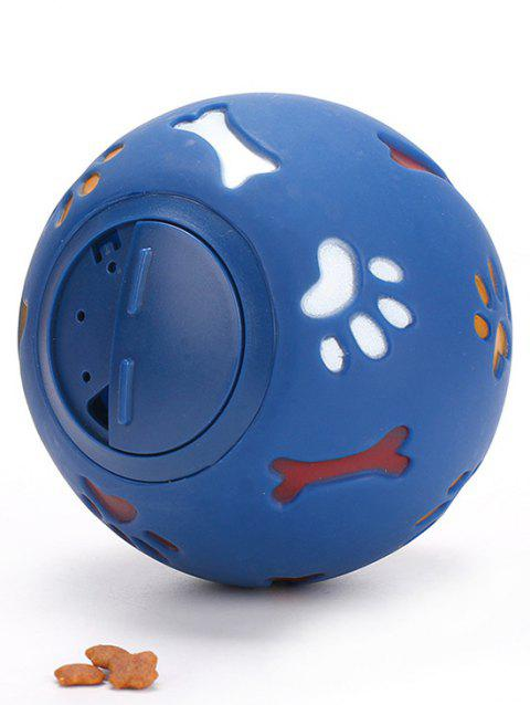 Bone Claw Footprint Pattern Leakage Round Ball - BLUE 11CM