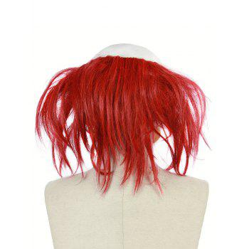Scary Clown Halloween Mask with Hair Wig - multicolor