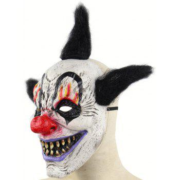 Halloween Accessory Witch Clown Mask - multicolor