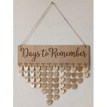 Days Reminder Wall Art DIY Wood Calendar