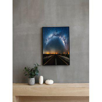 Milky Way Road Print Framed Canvas Painting - multicolor 14*20 INCH