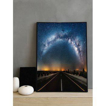 Milky Way Road Print Framed Canvas Painting - multicolor 16*24 INCH