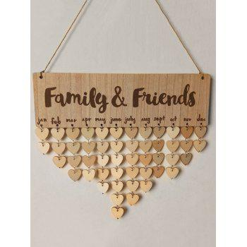 DIY Wooden Family and Friends Birthday Calendar