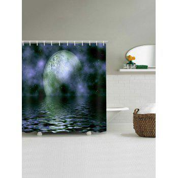 Ocean Moon Galaxy Print Waterproof Shower Curtain - multicolor W71 INCH * L71 INCH