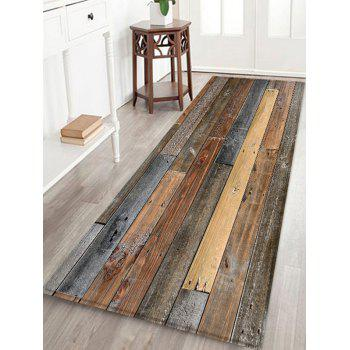 Wood Board Print Water Resistant Floor Mat