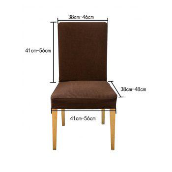 Fine Stripe Fabric Elastic Dining Chair Cover - COFFEE