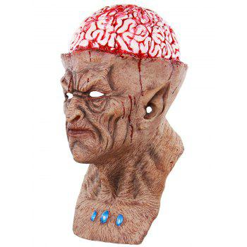 Halloween Scary Monster Brains Full Head Party Mask - multicolor