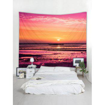 Waterside Sunset Print Tapestry Wall Art - multicolor W79 INCH * L59 INCH