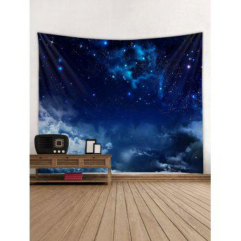 Starry Clouds Print Tapestry Wall Art - LAPIS BLUE W79 INCH * L71 INCH