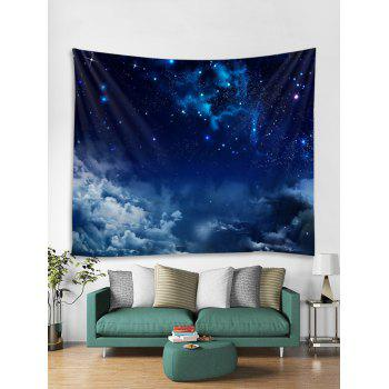 Starry Clouds Print Tapestry Wall Art - LAPIS BLUE W79 INCH * L59 INCH
