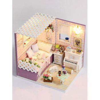 DIY Wooden Lamp Dollhouse Miniature Product - VIOLA PURPLE