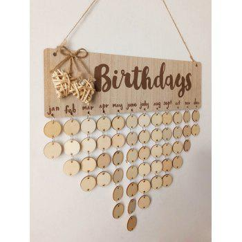 Birthday Calendar DIY Wooden Reminder Board