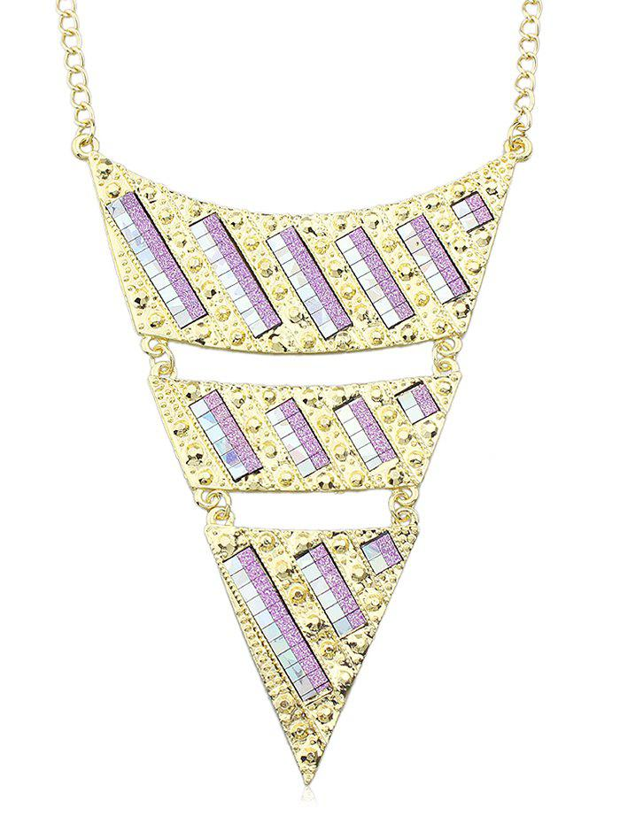 Triangle Chain Necklace - PURPLE