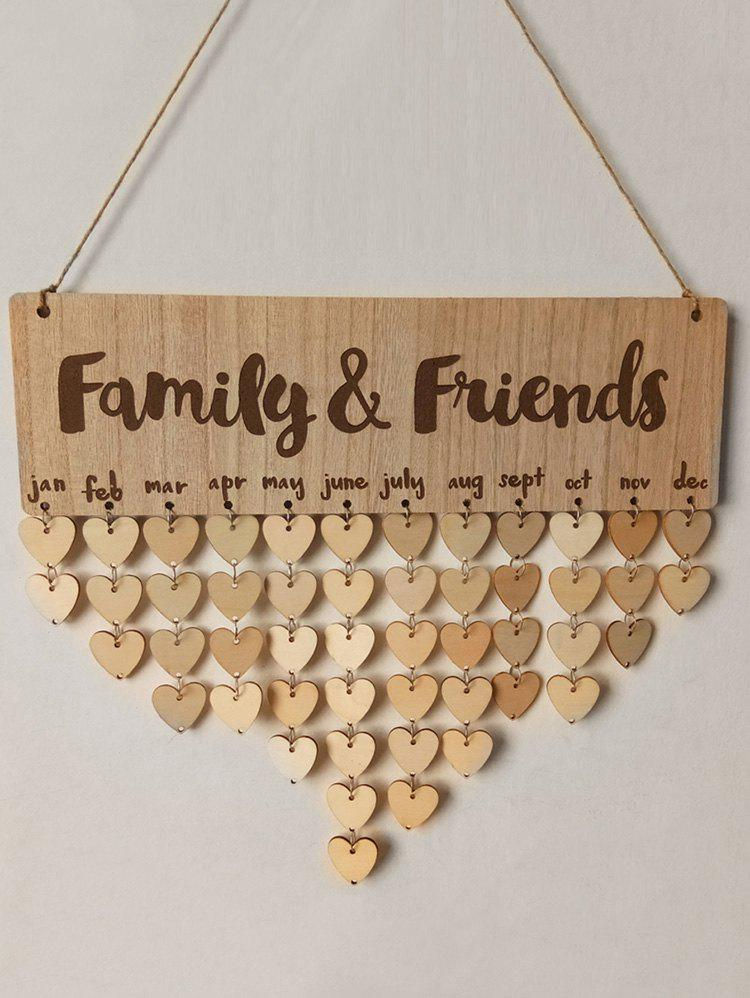 DIY Wooden Family and Friends Birthday Calendar - BURLYWOOD