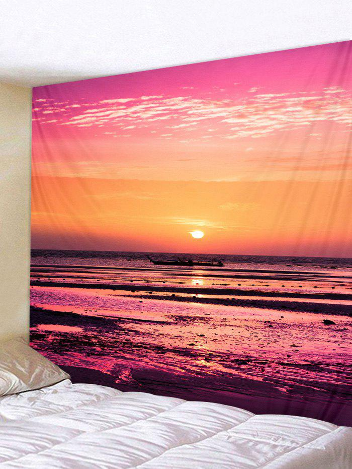 Waterside Sunset Print Tapestry Wall Art - multicolor W91 INCH * L71 INCH