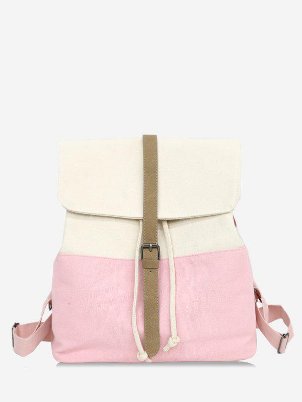 Casual Contrasting Color School Backpack - LIGHT PINK