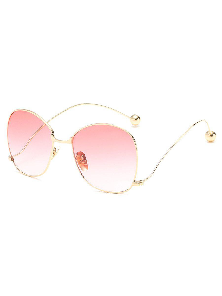Stylish Alloy Frame Oversized Bent Legs Sunglasses - PINK