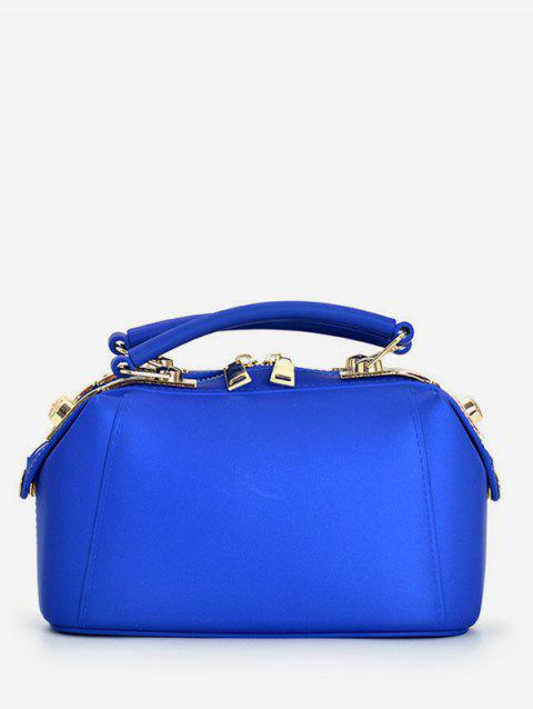 Top Handle Jelly Candy Chic Crossbody Bag - BLUE HORIZONTAL