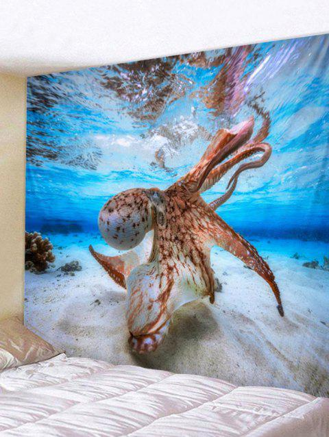 Octopus Print Tapestry Wall Art - multicolor W91 INCH * L71 INCH