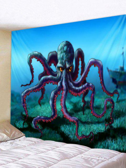 Cartoon Octopus Print Tapestry Wall Art - multicolor W71 INCH * L71 INCH