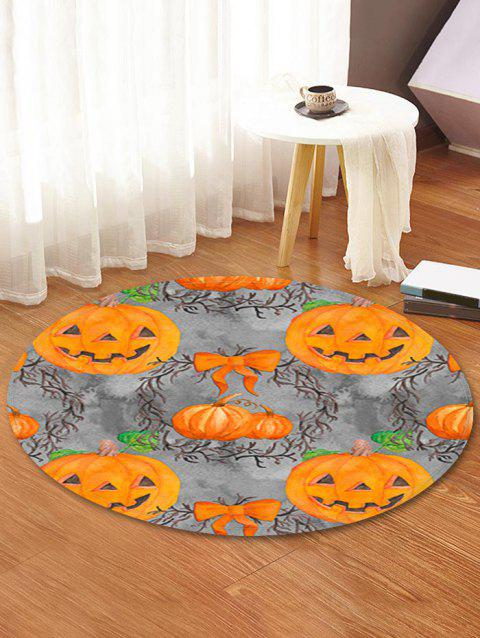 Halloween Pumpkin Pattern Round Area Rug - ORANGE 60 CM (ROUND)