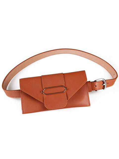 Vintage Funny Bag Faux Leather Belt Bag - CAMEL BROWN