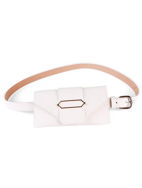 Vintage Funny Bag Faux Leather Belt Bag - WHITE