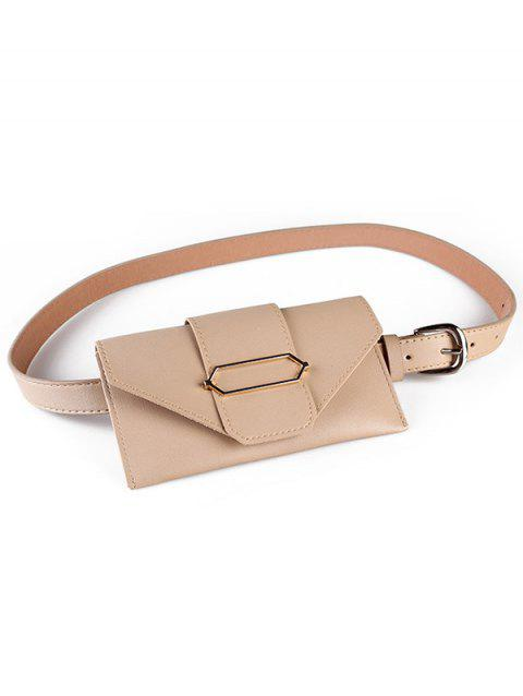 Vintage Funny Bag Faux Leather Belt Bag - LIGHT KHAKI