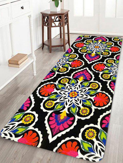 Ethnic Flower Pattern Soft Anti-skid Area Rug - RED W16 INCH * L47 INCH