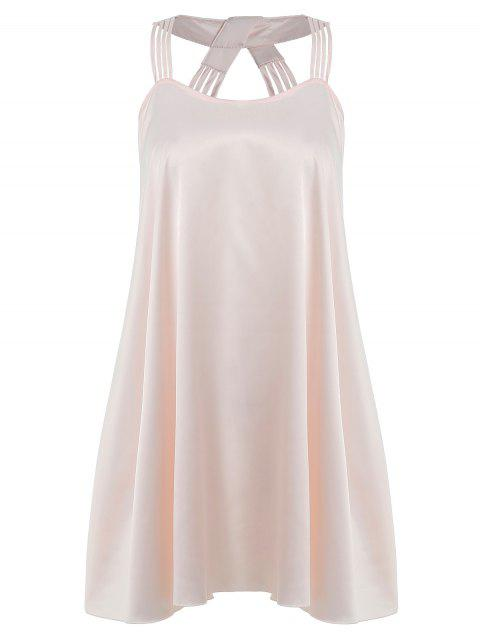 Strappy Swing Pajamas Dress - BLANCHED ALMOND ONE SIZE