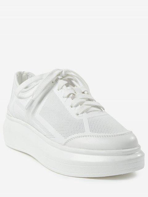 Breathable Low Heel Chic Sneakers - WHITE 36