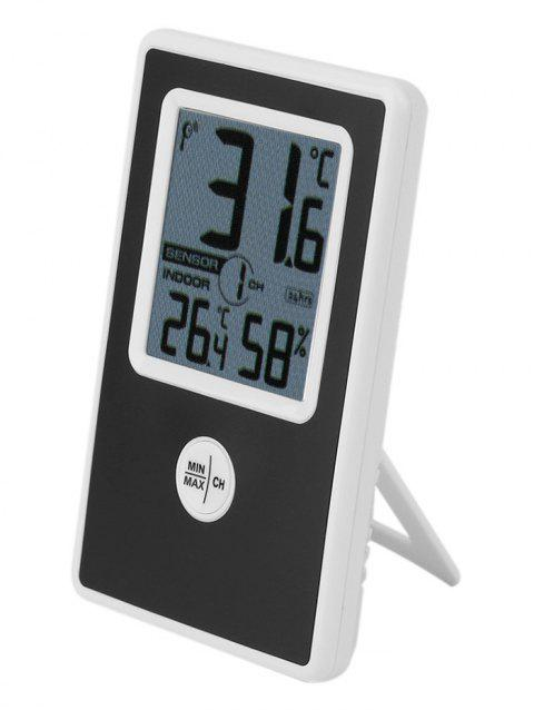 Temperature Humidity Meter Wireless Thermometer - BLACK