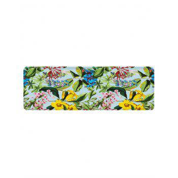 Fresh Flower Leaves Print Water Absorption Floor Mat - YELLOW W24 INCH * L71 INCH