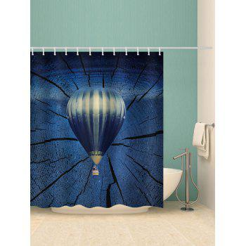 Hot Air Balloon Print Waterproof Shower Curtain - STEEL BLUE W65 INCH * L71 INCH