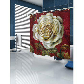 Retro Flower Print Waterproof Shower Curtain - multicolor W71 INCH * L71 INCH