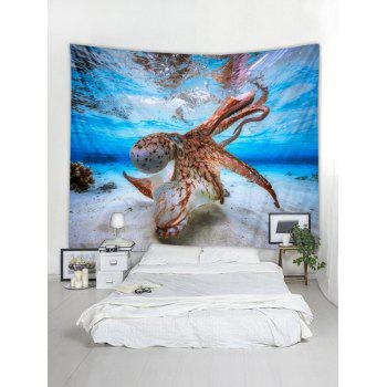 Octopus Print Tapestry Wall Art - multicolor W118 INCH * L79 INCH