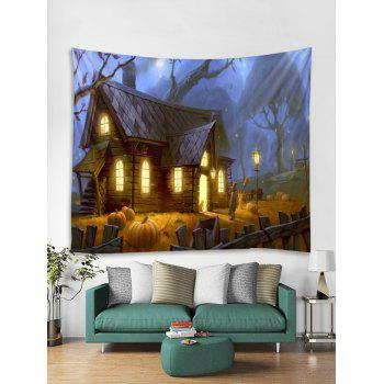 Halloween House Print Tapestry Wall Art - multicolor W59 INCH * L51 INCH
