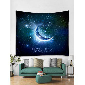 Crescent Starry Sky Print Tapestry Wall Art - multicolor W79 INCH * L59 INCH