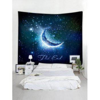 Crescent Starry Sky Print Tapestry Wall Art - multicolor W59 INCH * L51 INCH