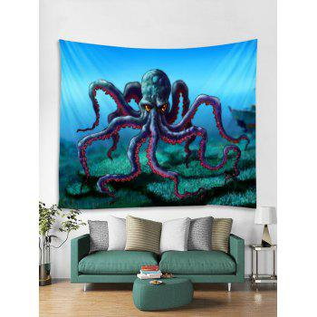 Cartoon Octopus Print Tapestry Wall Art - multicolor W59 INCH * L51 INCH