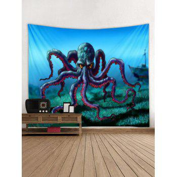 Cartoon Octopus Print Tapestry Wall Art - multicolor W79 INCH * L59 INCH