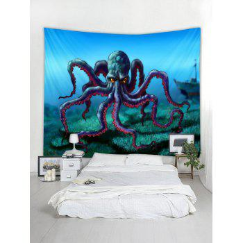 Cartoon Octopus Print Tapestry Wall Art - multicolor W118 INCH * L79 INCH